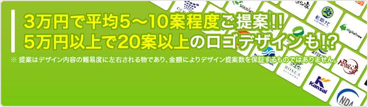 最低3万円からコンペ開催可能。5万円以上で50案以上のロゴデザインも!!